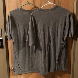 Hanes Shirts - Hanes ComfortSoft Gray V-Neck T-Shirt Sz L